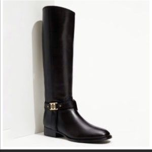 Tory Burch Alessandra Tall Leather Riding Boots